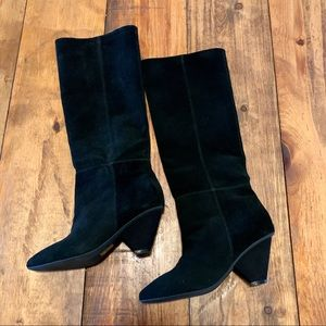 """JEFFREY CAMPBELL FREE PEOPLE """"Sentra"""" SUEDE BOOTS"""